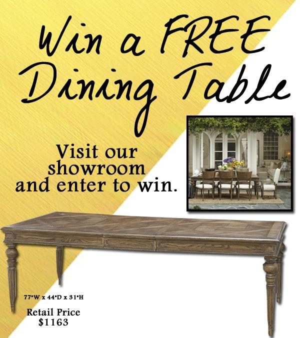Strobler Home Furnishings ~ Win A FREE Dining Table